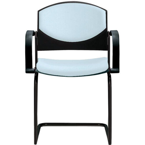 Our Eddy Sled Base Black Stack Side Chair with Upholstered Back and Seat Pads is on sale now.