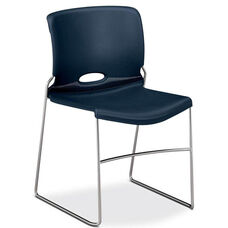 The HON Company Navy Stack Chair - Carton of 4