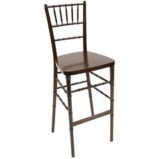 American Classic Red Mahogany-Finish Wood Chiavari Barstool
