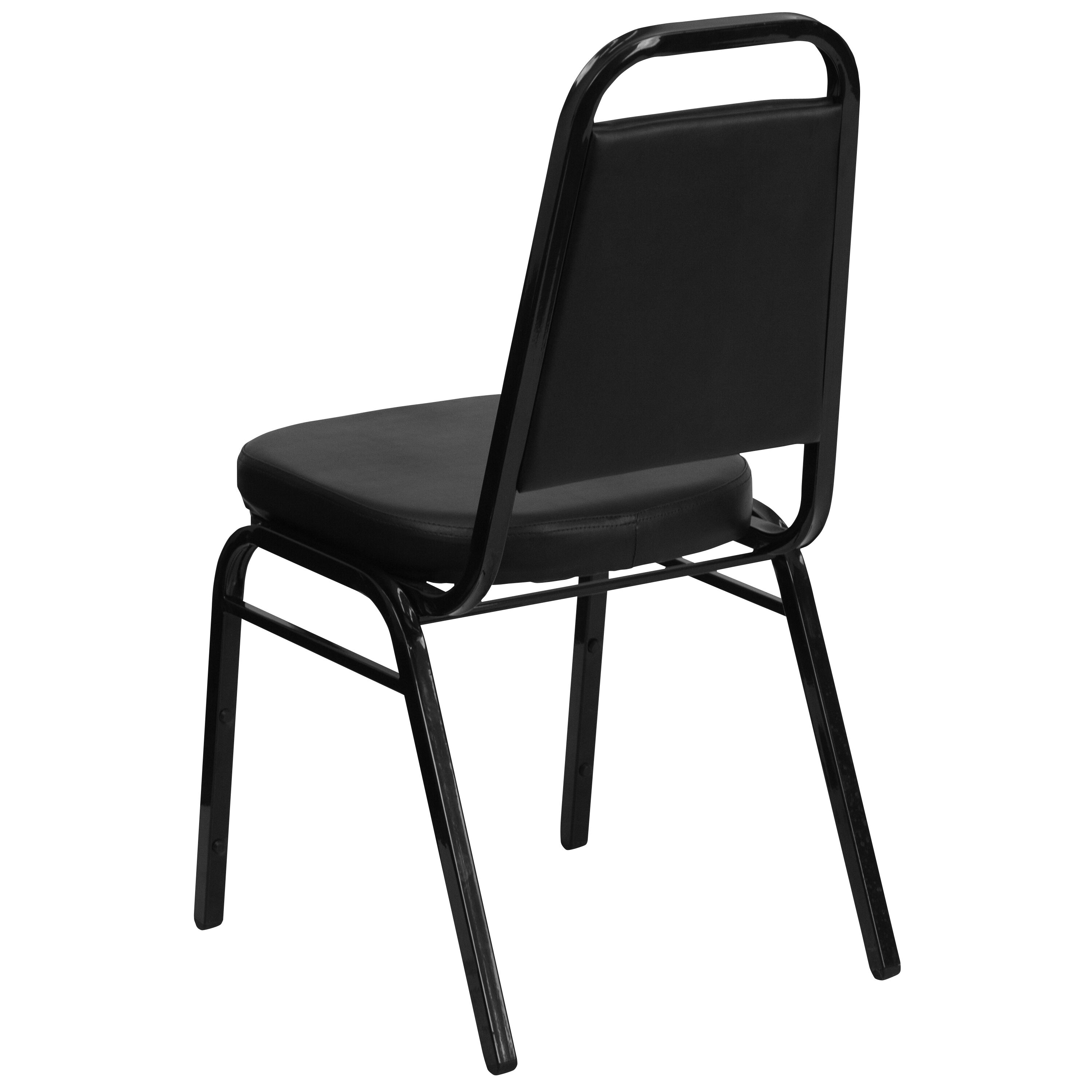 Superb Flash Furniture HERCULES Series Trapezoidal Back Stacking Banquet Chair In  Black Vinyl   Black Frame FD BHF 1 GG | StackChairs4Less.com