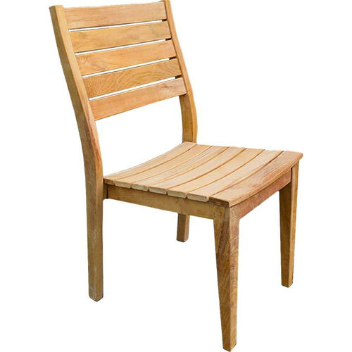 Our Vegas Natural Unfinished Weathered Stackable Plantation Teak Side Chair is on sale now.