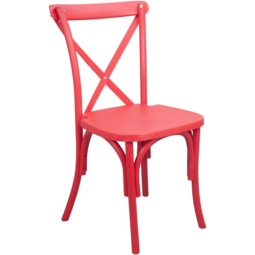 Advantage Red Resin X-Back Chair