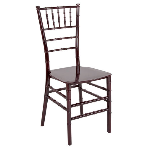 "Our HERCULES Series Mahogany Resin Stacking Chiavari Chair with <span style=""color:#0000CD;"">Free </span> Cushion is on sale now."
