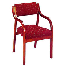 3500 Stacking Reception Chair w/ Upholstered Back & Seat - Grade 1