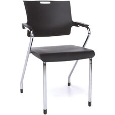 Smart 300 lb Capacity Stack Chair - Black