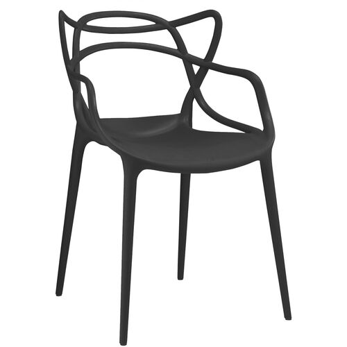 Masters Stackable Modern Polypropylene Arm Chair - Set of 4