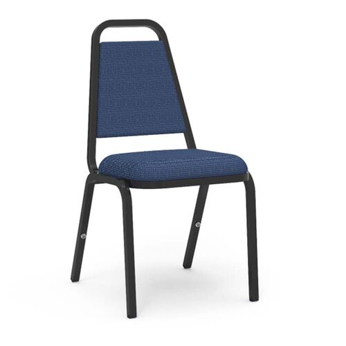 Our 8900 Series Trapezoid Back Stack Chair with Sedona Sailor Fabric Upholstery and Black Frame - 18