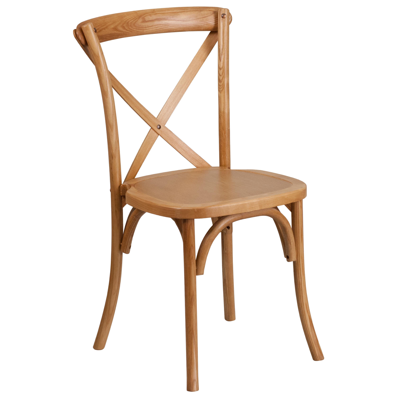Ordinaire HERCULES Series Stackable Oak Wood Cross Back Chair