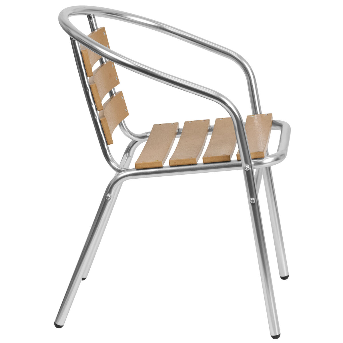 Furniture For Less Miami: Aluminum Teak Back Chair TLH-017W-GG