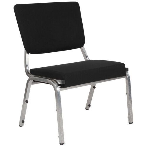 Our HERCULES Series 1500 lb. Rated Black Antimicrobial Fabric Bariatric Medical Reception Chair with 3/4 Panel Back is on sale now.