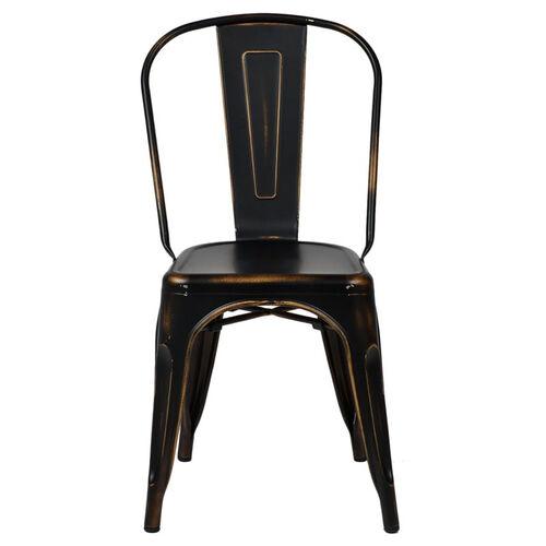 Oscar Steel Powder Coated Stackable Armless Chair