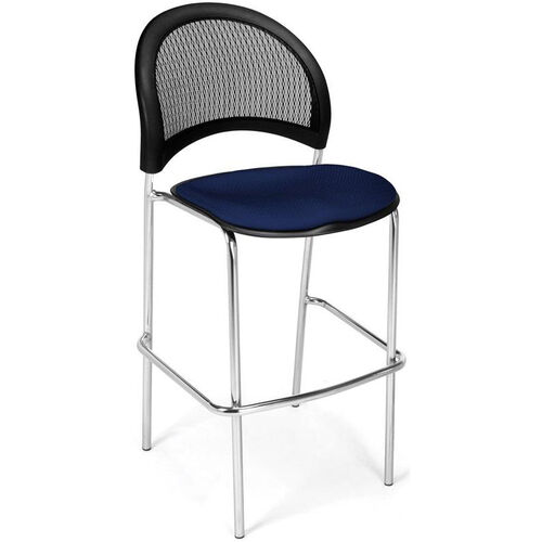 Our Moon Cafe Height Chair with Fabric Seat and Chrome Frame - Navy is on sale now.
