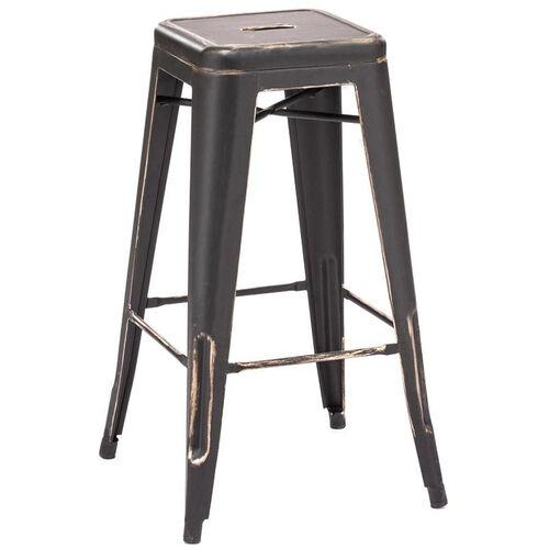 Dreux Stackable Vintage Steel Barstool - Set of 4