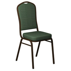 Crown Back Banquet Chair in Biltmore Lawn Fabric - Gold Vein Frame