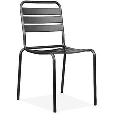 Paris Black Metal Stackable Side Chair - Set of 4