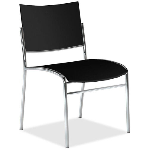 Our Mayline Group Escalate Stacking Armless Guest Chair with Black Plastic Back and Seat - Set of 4 is on sale now.