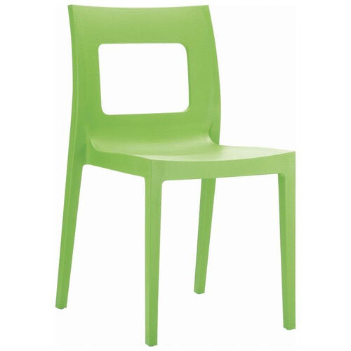 Our Lucca Contemporary Resin Stackable Dining Chair with Square Back - Tropical Green is on sale now.