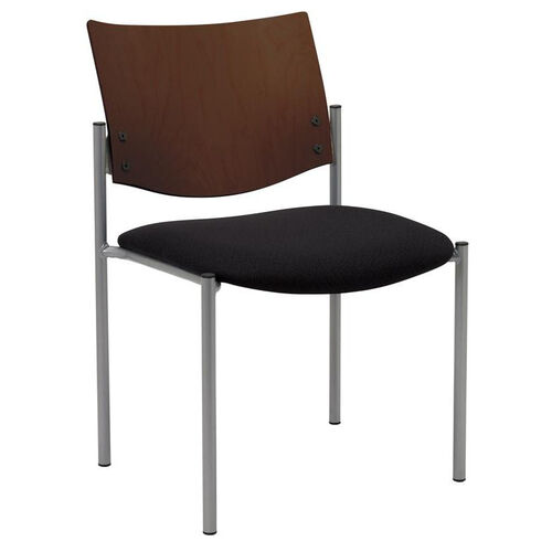 Our 1300 Series Stacking Armless Guest Chair with Chocolate Wood Back - Grade 3 Upholstered Seat is on sale now.