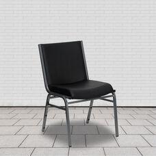 HERCULES Series Heavy Duty Black Vinyl Stack Chair