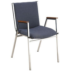 400 Series Stacking Square Steel Frame Hospitality Armchair with Full Back and 3