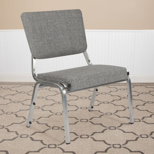 Our HERCULES Series 1500 lb. Rated Gray Antimicrobial Fabric Bariatric Antimicrobial Medical Reception Chair with 3/4 Panel Back is on sale now.