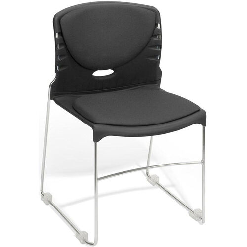 Our 300 lb. Capacity Stack Chair with Fabric Seat and Back - Black is on sale now.