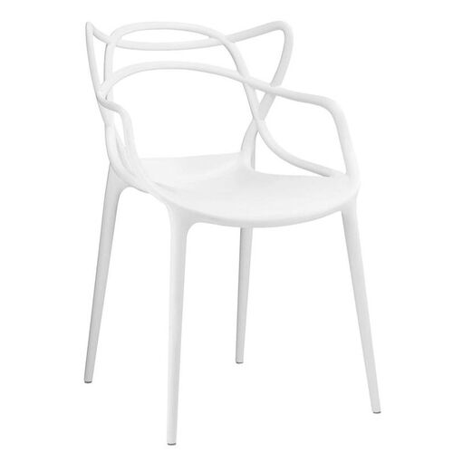 Our Masters Modern Matte White Stackable Arm Chair - Set of 4 is on sale now.