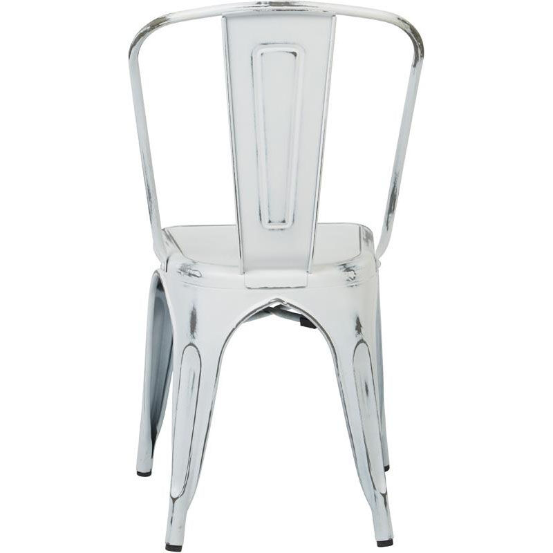 ... Our OSP Designs Bristow Stackable Armless Metal Chair   Set Of 4    Antique White Is ...