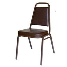 Montour Stacking Chair - Brown Frame and 2 inch Brown Vinyl Seat