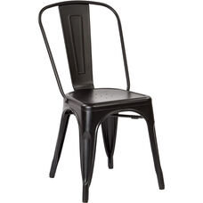 OSP Designs Bristow Armless Chair - Set of 2 - Matte Black