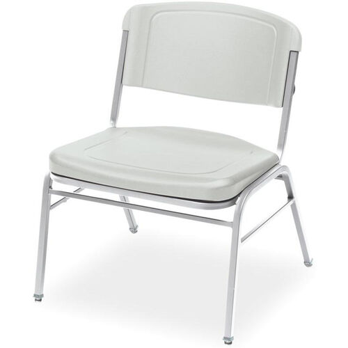 Rough N Ready 350 lb. Capacity Big &#38 Tall Stack Chair - Set of Four - Platinum