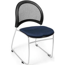 Moon Stack Chair with Fabric Seat Cushion - Navy