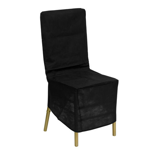 Our Black Fabric Chiavari Chair Storage Cover is on sale now.