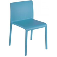 Pedrali Stackable Poly Shell Outdoor Side Chair - Blue