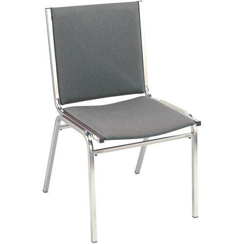 400 Series Stacking Square Steel Frame Armless Guest Chair with Full Back and 1