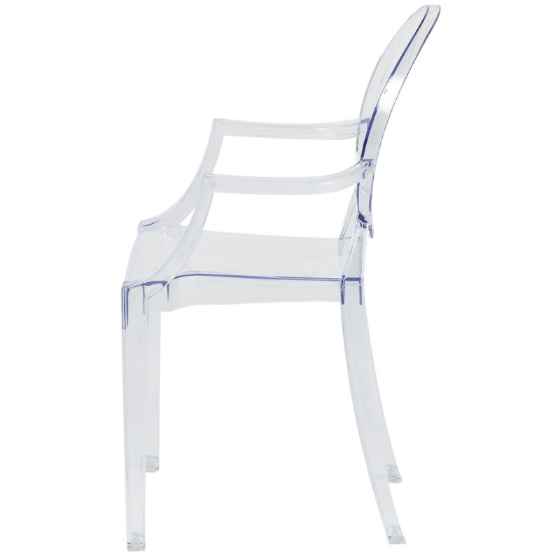 Our Kids Clear Polycarbonate Baby Kage Chair With Arms Is On Sale Now.