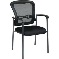 Pro-Line II Visitors Chair with Arms and ProGrid Back - Titanium