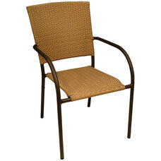 Aruba II Hand Polished Heavy Weight Aluminum Stackable Arm Chair