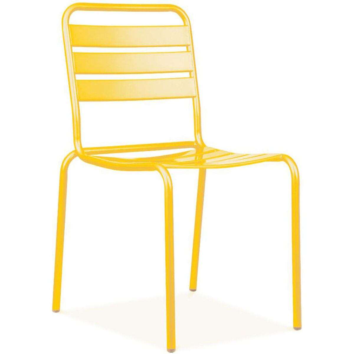 Design Lab Mn Paris Yellow Metal Stackable Side Chair