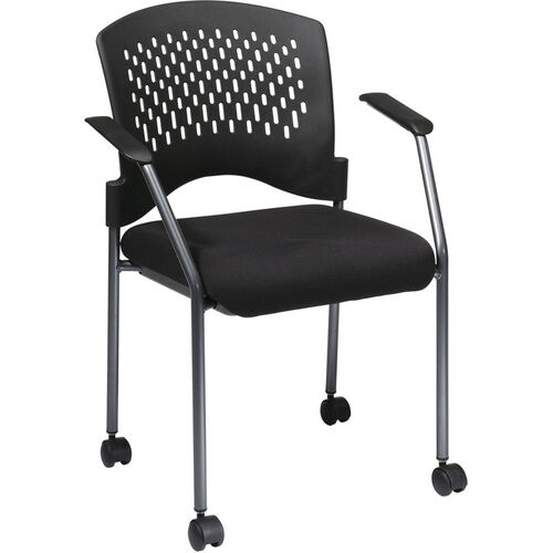 Our Pro-Line II Rolling Black Visitors Chair - Titanium is on sale now.