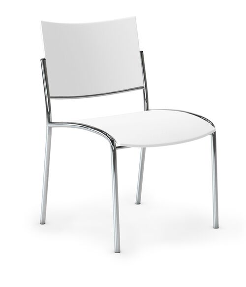 Our Bistro Escalate Chair with Plastic Back and Plastic Seat - Set of 4 - White is on sale now.