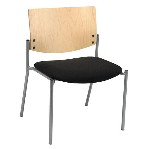 Our 1300 Series Extra Wide Stacking Armless Guest Chair with Natural Wood Back - Grade 3 Upholstered Seat is on sale now.
