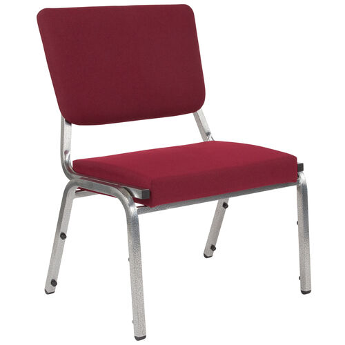 Our HERCULES Series 1500 lb. Rated Burgundy Antimicrobial Fabric Bariatric Medical Reception Chair with 3/4 Panel Back is on sale now.