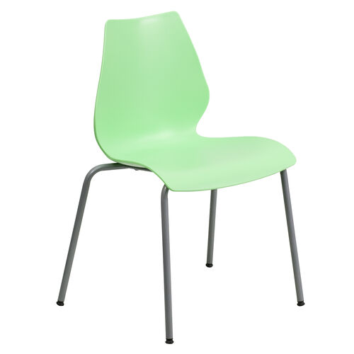 Our HERCULES Series 770 lb. Capacity Green Stack Chair with Lumbar Support and Silver Frame is on sale now.