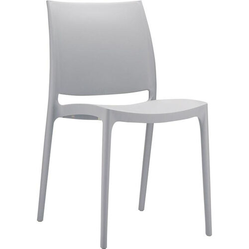 Our Martinique Lightweight Indoor/ Outdoor Stackable Side Chair - Silver Grey is on sale now.
