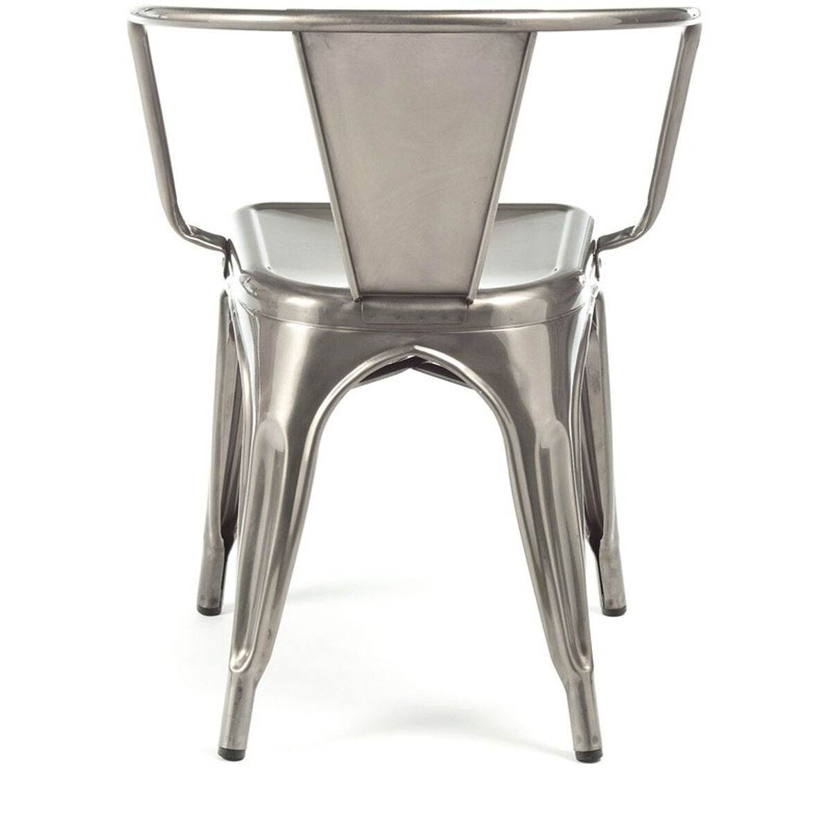Design Lab Mn Dreux Clear Gunmetal Stackable Steel Dining