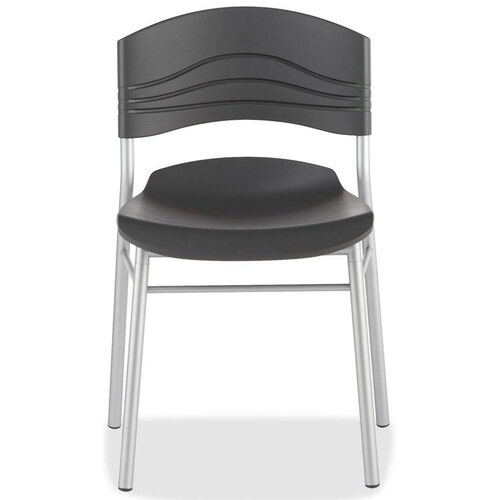 Iceberg Ergonomic Black Stack Cafe Chair - Set of 2