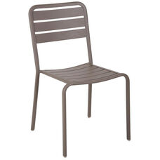 Vista Stackable Outdoor Aluminum Side Chair - Earth