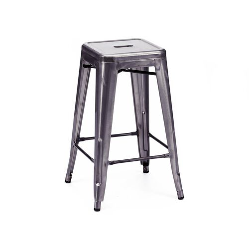 Our Dreux Dark Gunmetal Steel Stackable Counter Stool - Set of 4 is on sale now.