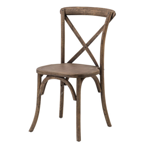 Our Rustic Sonoma Solid Wood Cross Back Stackable Dining Chair - Dark Walnut is on sale now.